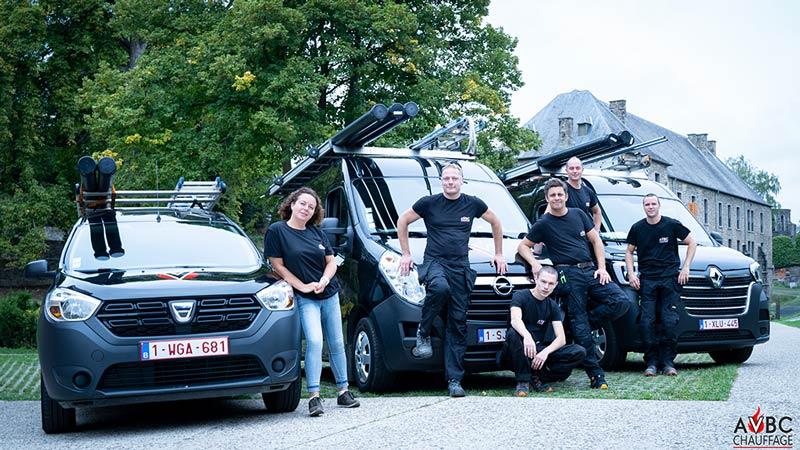 Equipe d'AVBC Chauffage à Villers-la-ville